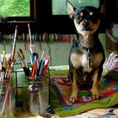 Every artist needs a studio and a studio buddy!
