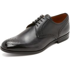 Bally Laran Derby Shoes (3,790 GTQ) ❤ liked on Polyvore featuring men's fashion, men's shoes, men's dress shoes and black