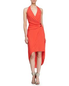 Layered-Skirt Halter Dress, Vermillion by Halston Heritage at Neiman Marcus.