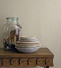 Sanderson - Soho Plain Wallpaper - Soft Grey