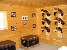 Tack room ideas. Saddle racks.
