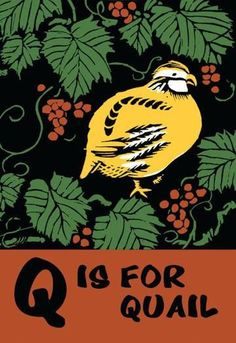 Q is for Quail 24x36 Giclee