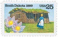 1989 25c South Dakota Scott 2416 Mint F/VF NH  www.saratogatrading.com