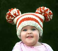 Baby hat pom Pom- maybe in school colors?!