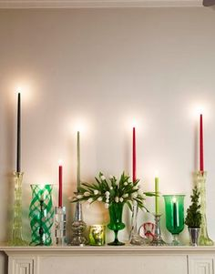 Candles: absolutely beautiful things: Colourful Christmas Inspiration