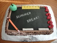 School Cake - This cake was made for an end of school year party, can also be used for back to school cake.