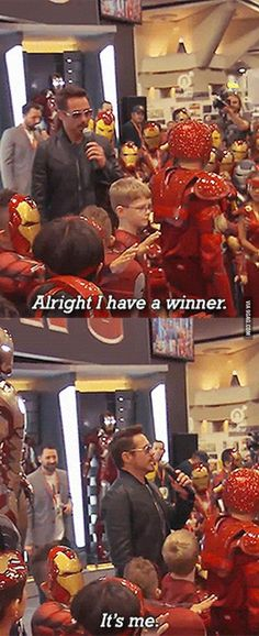 If this isn't proof that he's actually Tony Stark, then I don't know what is...