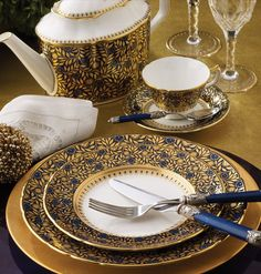 Blue and Gold China