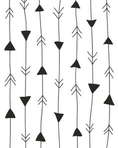 arrows print ~ white and black ~