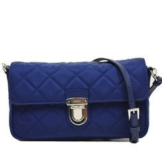 0de361953c8 Prada Tessuto Impuntu Pattina Quilted Nylon Shoulder Bag BT1025, Royal  Blue  100% authentic, made in Italy. Silver hardware. Quilted nylon  material with ...