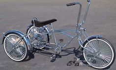 Parts to build a lowrider trike.
