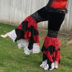 Ruffle Pants Bellydance Tribal Fusion Tribalesque. $104.50, via Etsy.
