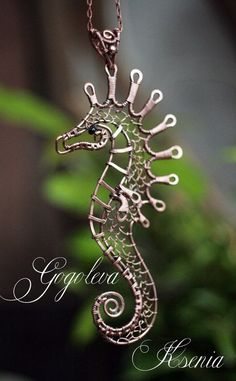 Wire Pendants, Wire Animal, Wirework Seahorse, Loves Seahorses, Wire Wrapped Seahorse, Beautiful Wire, Wire Wrapping, Lovely Wirework. ""