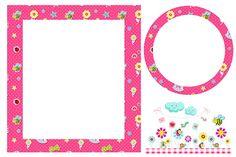 Jardim Encantado Rosa – Kit Completo com molduras para convites, rótulos para guloseimas, lembrancinhas e imagens! |Fazendo a Nossa Festa
