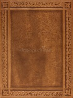 Photo about Brown leather book or journal cover with a decorative floral ornament. Image of material, leather, scrapbook - 7811399 Leather Book Covers, Leather Books, Journal Covers, Brown Leather, Card Holder, Abstract, Floral, Design, Decor