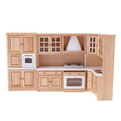 BolehDeals 1 12 Luxury Wooden Kitchen Cabinet Cupboard Furniture for Dolls  House Dining Room Accessories Decoration 7453543158