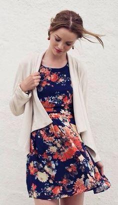 Seaside Blossoms Pleated Dress - Trendslove