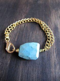Turquoise Love Chain Bracelet