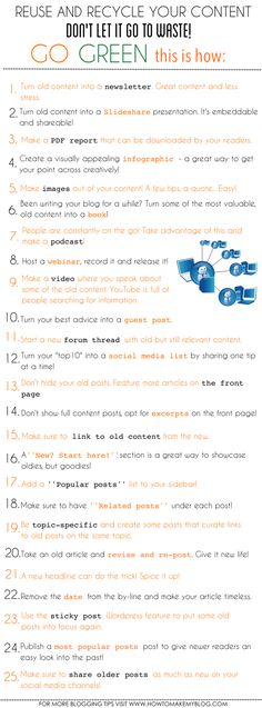 What Are 25 Creative Ways To Rescue and Recycle Content?