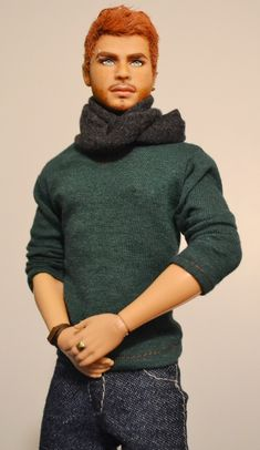 https://flic.kr/p/SnLCd8 | Lorcan- Irish Texas A&M University Ken OOAK Repaint by DollAnatomy | Lorcan is a fully repainted wigged Texas A&M Ken doll. He has the Tango Ken Barbie Basics #16 face sculpt. His clothes are handmade. Lorcan is artistically anatomically correct. I love dolls with red hair, but since there are not many 1/6 scale red haired male dolls- I decided to create Lorcan.