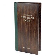 Real Wood Menu Covers - Wooden Restaurant Menus - Smart Hospitality - Wine Bar - Wine List Display