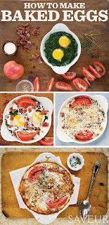 Baked Eggs [ Borsarifoods.com ] #breakfast #recipes #food