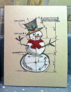 Blueprint Snowman - an interesting stamp...I think I could really have some fun with this one.