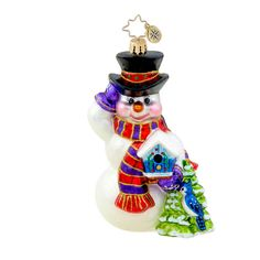 Christopher Radko Snowman Christmas Ornament Seasonal Friends