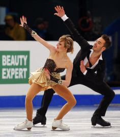 Papadakis and Cizeron of France perform the Ice Dance Short Dance of the ISU European Figure Skating Championships in Budapest