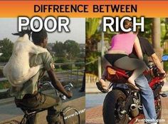 Rich and Poor People Cartoon   Difference between Poor and Rich.
