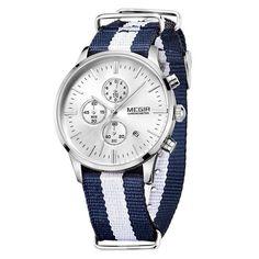 MEGIR Sport Chronograph Quartz Watches