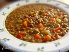 Extremely tasty lentils, easy to make and unusual. Greek Cooking, Fun Cooking, Cooking Recipes, Lentil Recipes, Vegetable Recipes, Legumes Recipe, Mediterranean Recipes, Greek Recipes, Food Menu