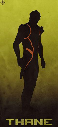 Thane poster - Mass Effect Mass Effect Thane, Mass Effect 2, Mass Effect Universe, Thane Krios, Commander Shepard, Dragon Age, Game Art, Cerberus, Deviantart