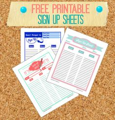 Free Printable Sign Up Sheets for Ministry