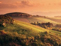 Countryside at Sunset, Volterra, Tuscany, Italy, The Places Youll Go, Places To See, All About Italy, Dawn And Dusk, Europe, Beautiful Places In The World, Beautiful Scenery, Amazing Places, Beautiful Things