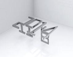 """Consulta este proyecto @Behance: """"3D Ambigram"""" https://www.behance.net/gallery/16021911/3D-Ambigram"""