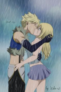 Kiss Under The Rain remake [Sting x Lucy] by Kiko-x3.deviantart.com on @DeviantArt