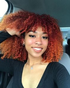 Natural Hair Color Brown, Dyed Natural Hair, Brown Hair Colors, Natural Hair Care, Natural Hair Styles, My Hairstyle, Afro Hairstyles, Quiff Hairstyles, Color Ombre Hair