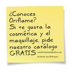 Se parte de Oriflame y disfruta de los beneficios que tenemos para ti. Contactame y te envio tu catalago gratis a cualquier parte de Mexico. anardz.bussiness@yahoo.com