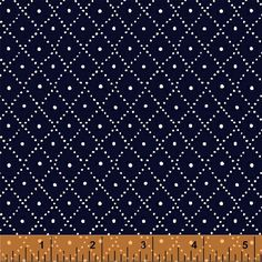 Low Country Indigo Dark Blue Diamonds by by SistersandQuilters