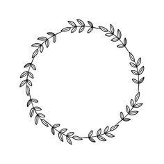 Art Clipart, Vector Art, Circle Drawing, Flower Circle, Flower Frame Png, Bild Tattoos, Wreath Drawing, Monogram Frame, Silhouette Design