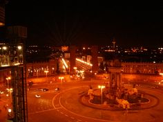 Vue depuis les #arenes de #Barcelone la nuit ! Concert, Night, Concerts