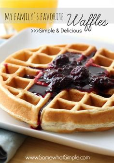 Looks like we'll be having breakfast for dinner tonight! Easy waffle recipe that looks delicious!