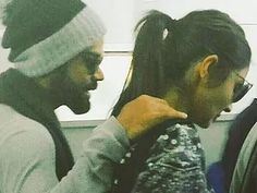 Indian cricketer Virat Kohli and his rumoured girlfriend actress Anushka Sharma were seen at the Dehradun airport, where they had gone to spend the Christmas and New Year.