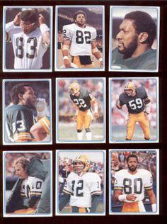 1983 Green Bay Packers Sticker Set James Lofton Lynn Dickey Jan Stenerud Marklee | eBay