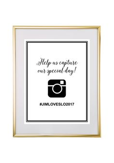 Super Cute Free Printable Wedding Hashtag Sign Pinterest Wedding - Free wedding sign templates