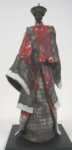 Paul BECKRICH, Mandarin, 54 x 18 x 21 cm, raku