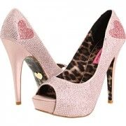 Daily Shoe-topia: Pink sparkly heels by Betsey Johnson