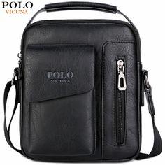 Vicuña POLO Vintage de los hombres, bolso de mensajero de cuero bolso con bolsillo impermeable de bolso bandolera para hombre en de en AliExpress.com | Alibaba Group