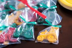 Tractor crayon party favors - tractor birthday